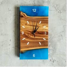 Настенные часы ручной работы Orologios 07 с голубой заливкой