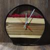 Дизайнерские настенные часы Orologios 08 cо стабилизированным мхом