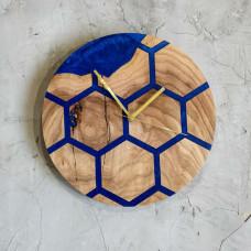 Настенные часы Orologios 01 из плиток карагача гексагональной формы