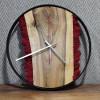 Настенные часы Orologios 03 c красным стабилизированным мхом