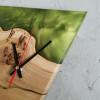 Настенные часы Orologios 04 треугольной формы с зеленой заливкой
