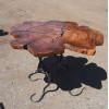 Журнальный стол-клякса Maplee из поперечного спила карагача