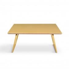 Журнальный стол Souty yellow c металлическими ножками и крашеной столешницей