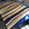 Журнальный стол Zebras из продольных слэбов карагача