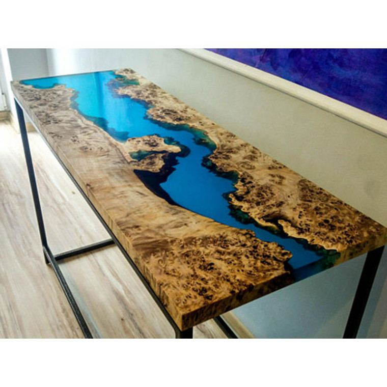 Консольный столик из слэба с заливкой Spongee