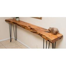 Консольный столик из слэба дуба Gravisa