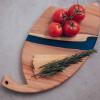 Сервировочная доска Seviano 23 с синей заливкой их эпоксидной смолы
