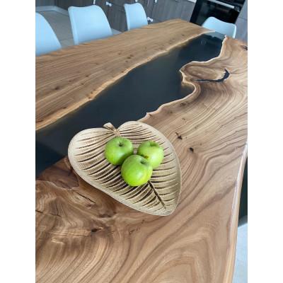 Стол-река из карагача - для кухни-гостиной