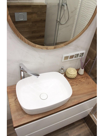 Гарнитур из натурального карагача - ванная комната