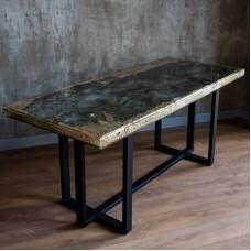 Обеденный стол Labre со столешницей из камня лабрадорита