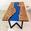 Обеденный стол Azula 02 из слэбов карагача