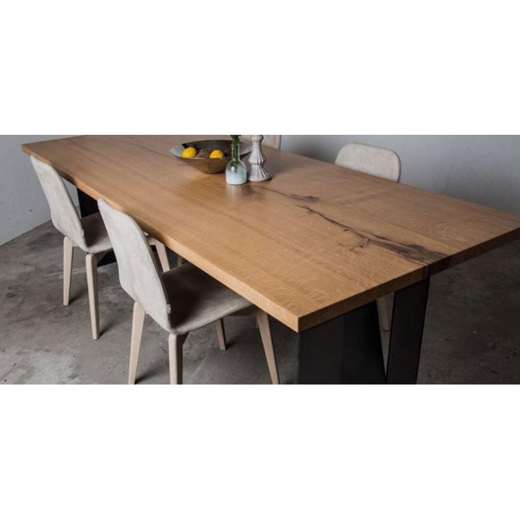 Обеденный стол из слэба дуба Shiffe