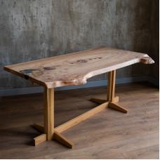 Обеденный стол Ammonus с инкрустацией аммонитом