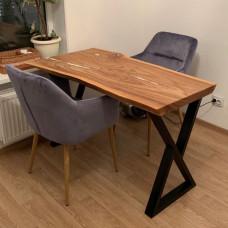 Компактный обеденный стол Croissa из слэба карагача