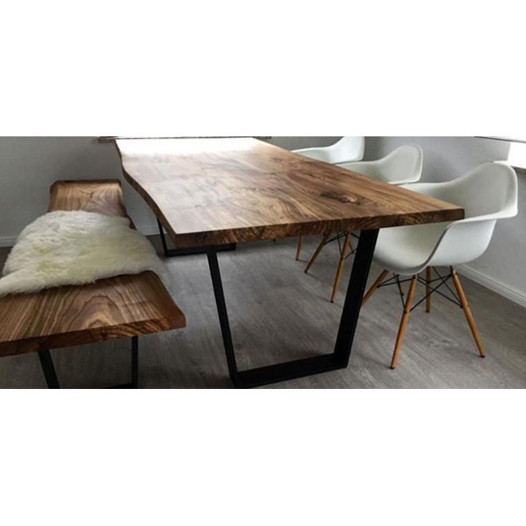 Обеденный стол из слэба крагача Solidos