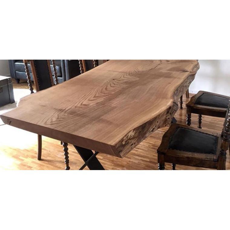Обеденный стол из слэба дуба Profillo