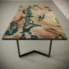 Обеденный стол река из слэбов карагача Omerroon C05