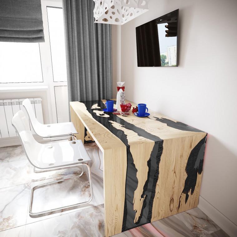 Обеденный стол река из слэбов дуба Farsaw C10