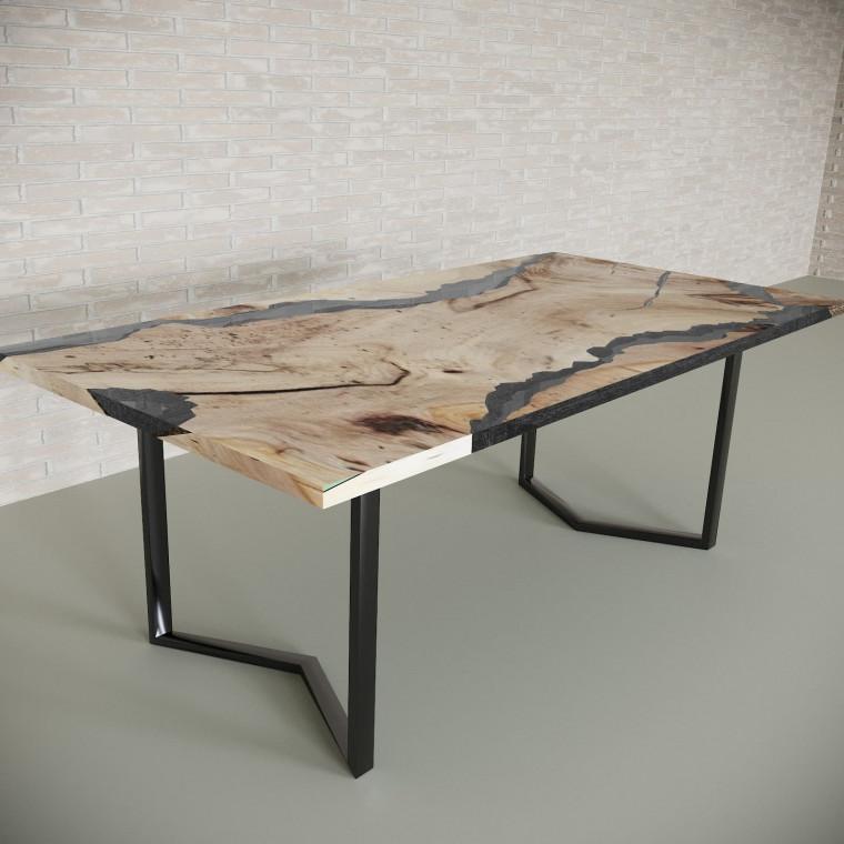Обеденный стол река из слэбов карагача Callema C10
