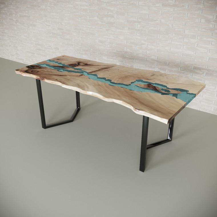 Обеденный стол река из слэбов карагача Madria C05
