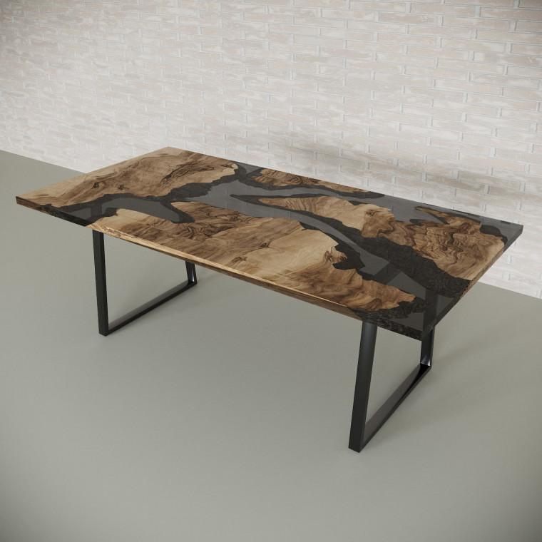 Обеденный стол река из слэбов граба Merchaella C10