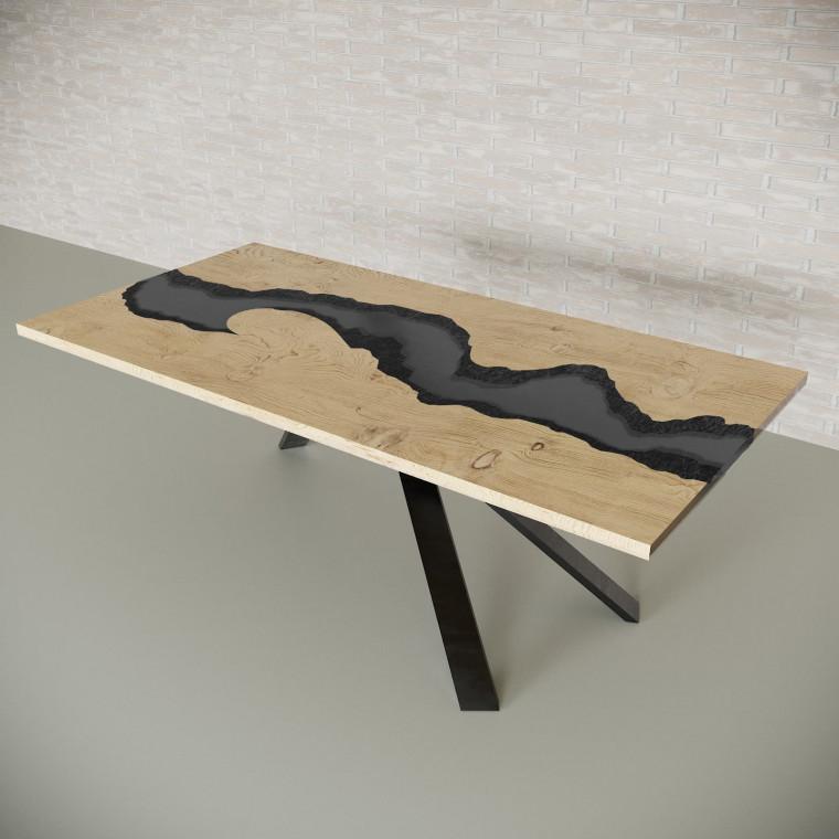 Обеденный стол река из слэбов дуба Ivars C10
