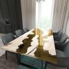Обеденный стол река из слэбов карагача Argentre C09