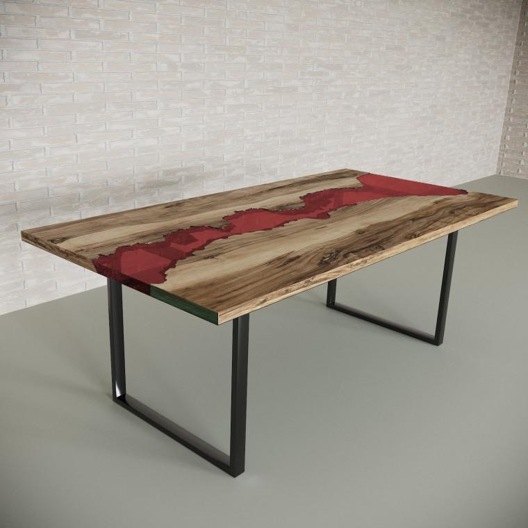 Обеденный стол река из слэбов граба Maessy C11