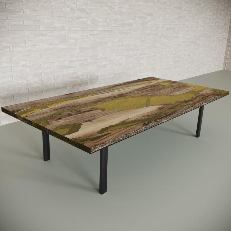 Обеденный стол река из слэбов граба Lifense C09