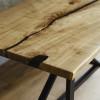 Обеденный стол река Igwei из слэбов карагача