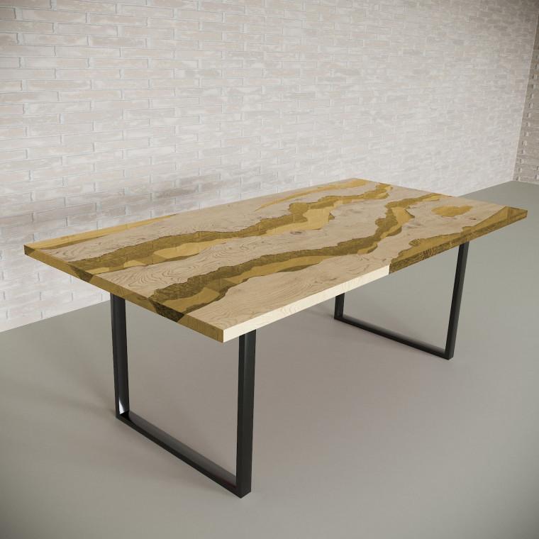 Обеденный стол река из слэбов дуба Alliano C09