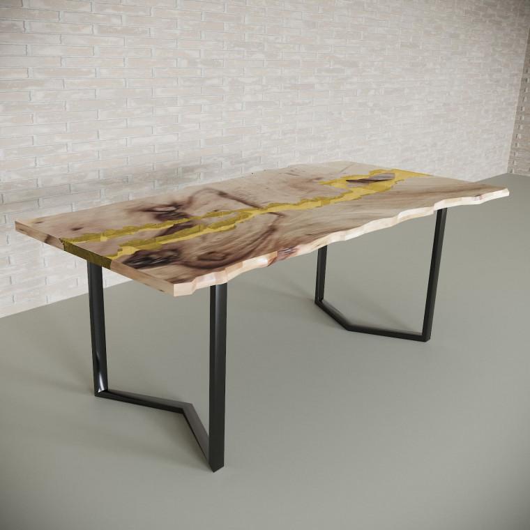 Обеденный стол река из слэбов карагача Madria C09