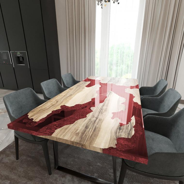 Обеденный стол река из слэбов граба Merchaella C11