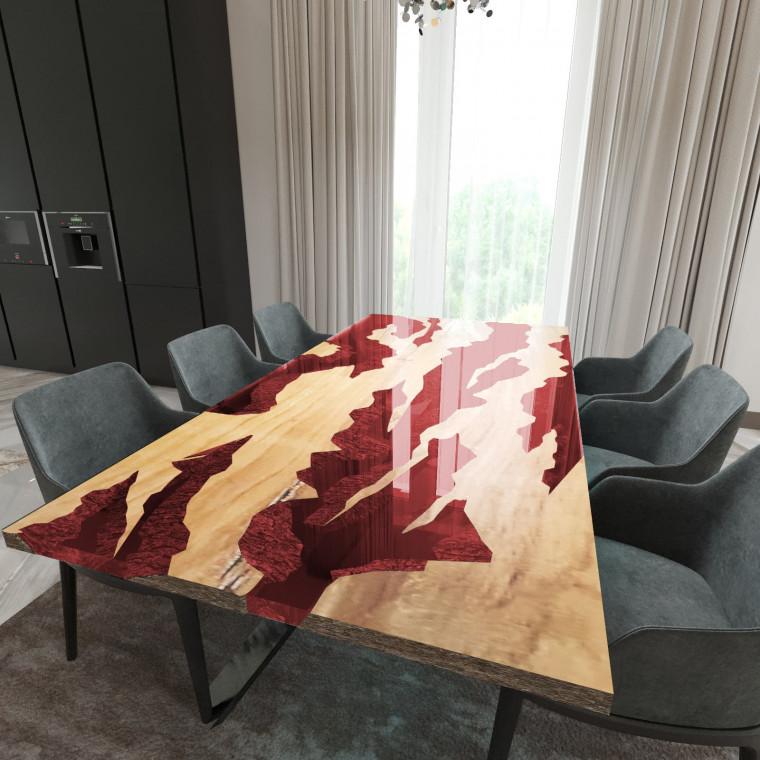 Обеденный стол река из слэбов клена Villors C11