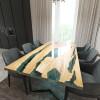 Обеденный стол река из слэбов клена Lifense C05