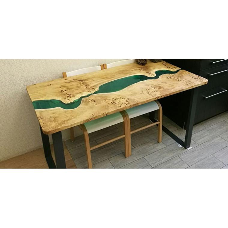 Обеденный стол река из слэбов тополя Capucci