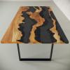 Обеденный стол река из слэбов клена Welfoo C10