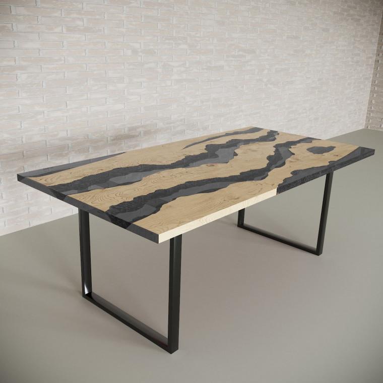 Обеденный стол река из слэбов дуба Alliano C10