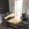 Обеденный стол река из слэбов клена Merchaella C10