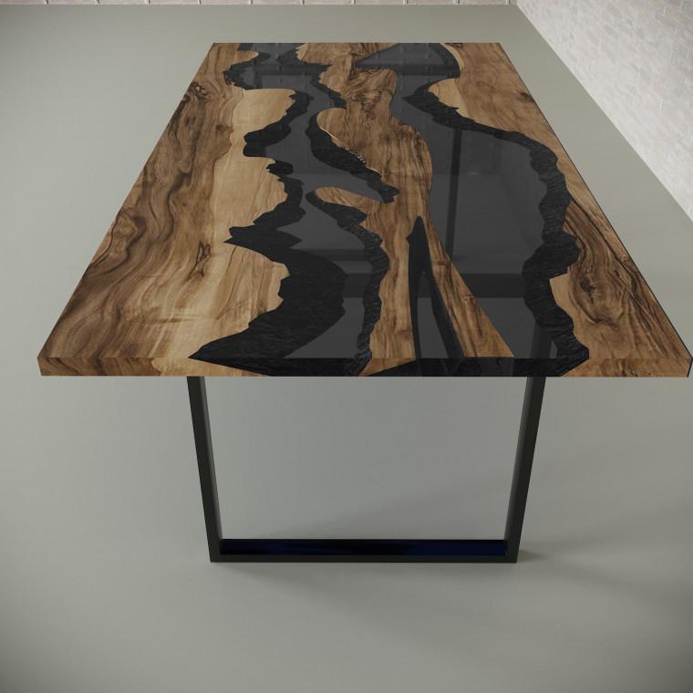 Обеденный стол река из слэбов граба Giveney C10