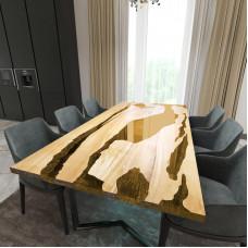Обеденный стол река из слэбов клена Lifense C09