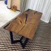 Обеденный стол река Favory из слэбов карагача