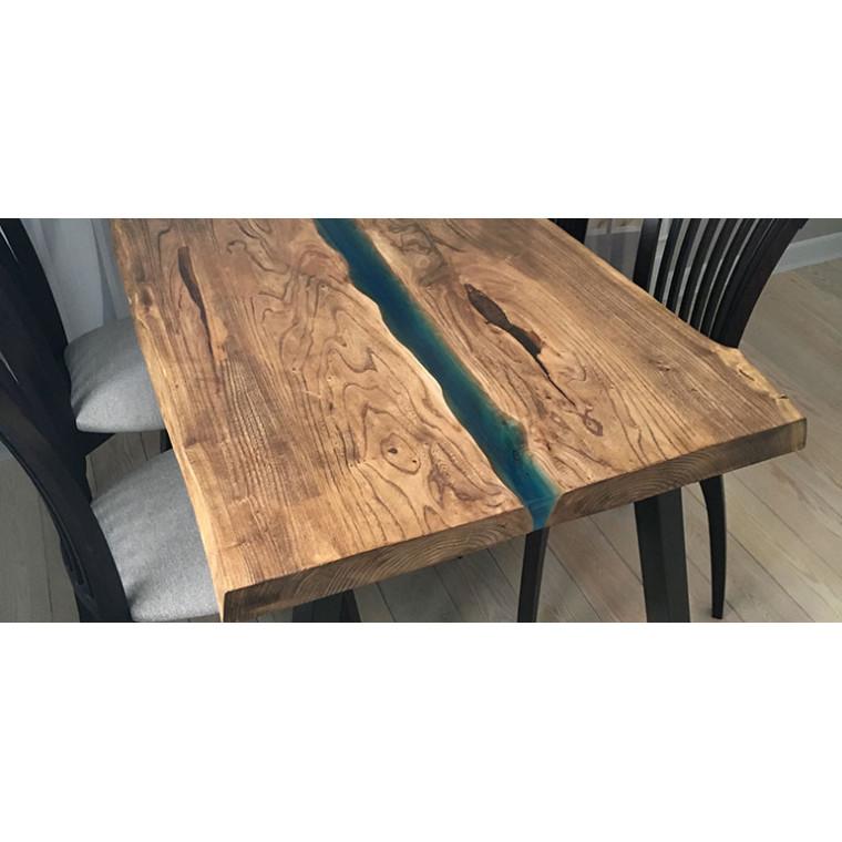 Обеденный стол река из слэбов карагача Esilo