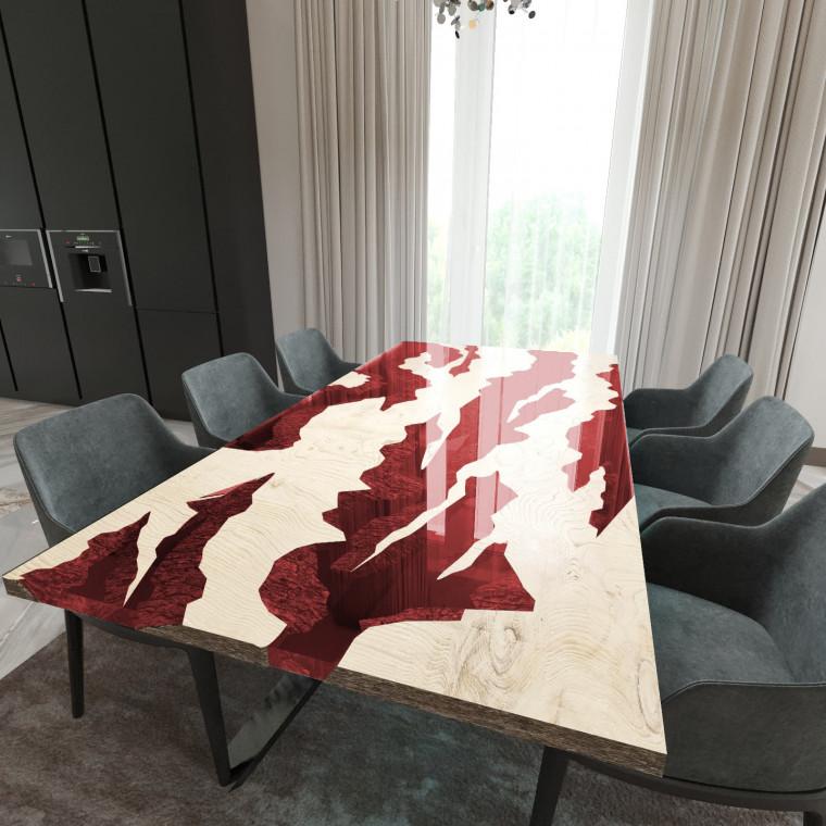 Обеденный стол река из слэбов дуба Villors C11