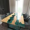 Обеденный стол река из слэбов клена Argentre C05