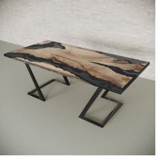 Обеденный стол река из слэбов карагача Neila C10
