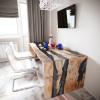 Обеденный стол река из слэбов карагача Farsaw C10