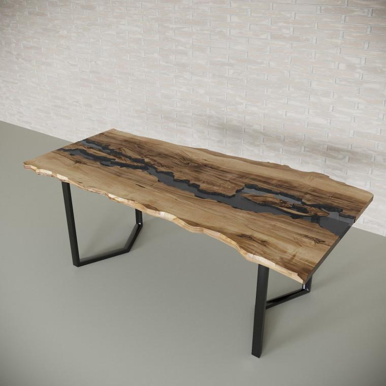 Обеденный стол река из слэбов граба Madria C10