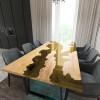 Обеденный стол река из слэбов клена Argentre C09