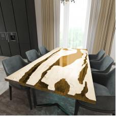 Обеденный стол река из слэбов дуба Lifense C09
